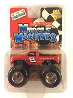 Muscle Machines Action Monster Truck Dale Earnhardt Jr Red Chevy Chevrolet 1/64