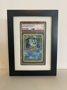 PSA Graded Card Display Frame - Black with White Background