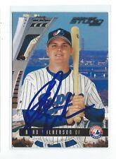 Brad Wilkerson Signed 2003 Donruss Studio Card #147