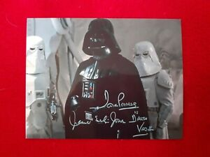 'STAR WARS' DAVE PROWSE & JAMES EARL JONES SIGNED PHOTO PRE-PRINT