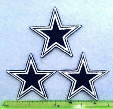 Dallas Cowboys 3 Stars NFL Football patch Logo Embroidery iron on,Sew on Clothes