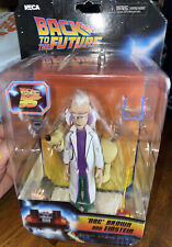 "NEW NECA Back To The Future Toony Classics ""DOC BROWN & EINSTEIN,"" 6"" Figure"