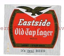 Eastside OId Tap Lager 12oz Pabst Brewing Co Los Angeles CALI Tavern Trove Foil