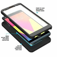 Poetic Revolution Shockproof Cover Heavy Duty [Dual Layer] Case For LG V20 Black