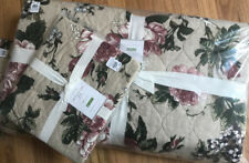 Pottery Barn Adelise Quilt Set Soft Rose King 2 Standard Shams Pink Floral 3pc