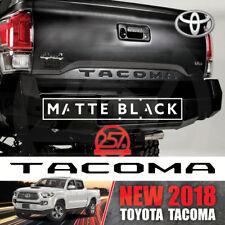 NEW 2018 PREMIUM MATTE BLACK TOYOTA TACOMA Decal Tailgate Letters Insert Sticker