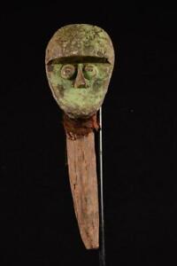 17407 Afrikanische Alte Fang Aufsatkopf Figur / Figure Gabun