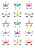 Unicorn Head Horn And Ears Cupcake Toppers Edible Wafer Paper Fairy Cake Toppers