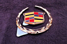 2011-15 CADILLAC CTS TRUNK WREATH & CREST EMBLEMS OEM NOS #25840466