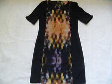 BLACKY DRESS chices figurfreundliches Etuikleid schwarz bunt Gr. 38 TOP 619