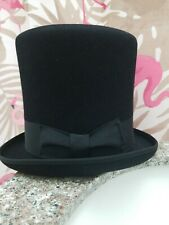 "SELENTINO CROWN Top Hat 100% FUR FELT 8"" High size 7 1/4"" TONAK COLLECTION..."