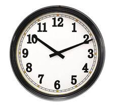 Orologi e sveglie da casa nero analogico di vetro