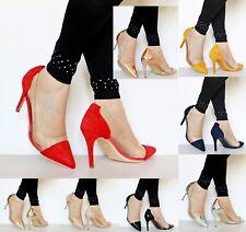 Mujer Claro Fiesta Estilete 8.9cm Tacón Alto Perspex Court shoes 3361