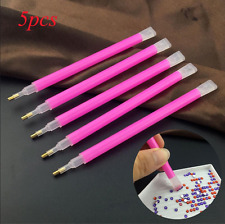 5Pc/set Dual-ended Gem Crystal Rhinestones Picker Pencil Nail Art Craft Tool Pen