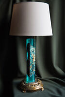 "Unique desk lamp ""Sea wave from palace, Malakhite"", antique style"