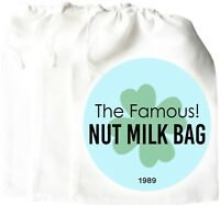 Nut Milk Bag PERFECT Cheese Cloth Fine Mesh Strainer Almond Food Storage Yogurt
