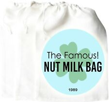 Nut Milk Bag PERFECT Cheese Cloth Fine Mesh Food Yogurt Strainer Almond Cotton