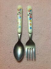 Vintage Disney Mickey Mouse Baby Toddler Fork And Spoon