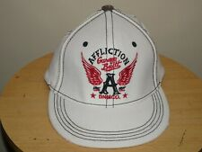 New Affliction White Cap Hat Distressed Size S/M Retail $45 MMA UFC