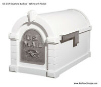 Keystone Series Mailbox - Gaines Cast Aluminum Mail Box 12 Color/Accent Combos