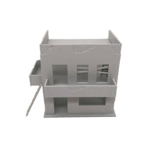 Outland Models Miniatures Damaged Ruin House Background Building 1:72