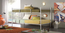 424 Dupen Hochbett Kinderbett Jugendbett aus Metall Metallbett Bett 90x200 cm