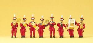 Circus Seated Band (8) HO/OO Figure Set Preiser 20259