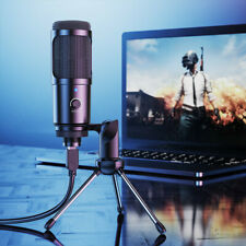 USB Condenser Microphone Mic Kit Tripod Stand For Recording Studio PC Game Chat
