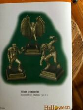 Dept 56 Halloween Village Accessories Monster Park Statues Set of 3 Nib