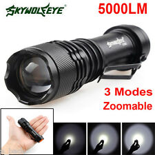 5000LM CREE Q5 AA/14500 3 Modes ZOOMABLE LED Flashlight Torch Light Super Bright
