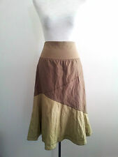 The Ark size S olive cotton & polyester crush skirt with elasticised waist