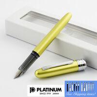 Platinum Plaisir Fountain pen Fine Nib Yellow body With Box PGB-1000#68-2 Japan