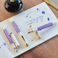 Pelikan M600 Special Edition Violet White & Gold Trim Fountain Pen Fine F Nib