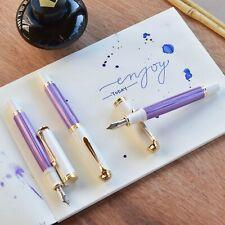 Pelikan M600 Special Edition Violet White & Gold Trim Fountain Pen Fine F Nib