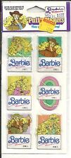 Vintage 1990 SEALED Package of PUFFY STICKERS - BARBIE Doll - No 929b