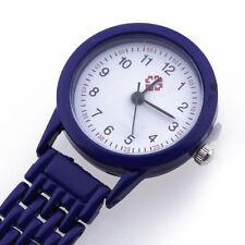 Montre Infirmiere Poche Mouvement a Quartz Nurse Watch Broche Epingle ip B4M7