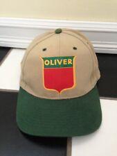 097d4d6e46d Vintage Oliver Tractor Hat Keystone Logo Two tone Nissin Snapback Buckle  back