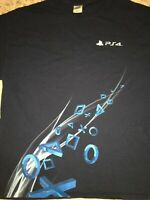 VINTAGE RARE T-Shirt Playstation 4 PS4 PS5 XL 2013 SONY ONLY Promotional Shirt