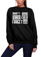 Never Forget Kids Sweatshirt Retro Cassette 90s
