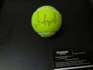 ANDRE AGASSI AUTOGRAPHED SIGNED IN BLACK INK PENN TENNIS BALL W/COA