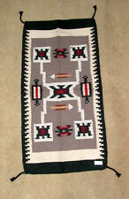"Throw Rug Tapestry Southwest Western Hand Woven Wool 20x40"" Replica #403"