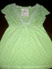 Women's top blouse Hollister size Small used green v neck short sleeve
