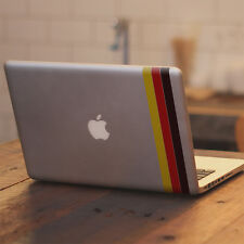 "German Flag Stripes for Apple Macbook Air / Pro 11 13 15 17"" Vinyl Decal Sticker"