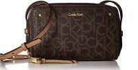 Calvin Klein Boxy Leather Zip Around Crossbody/ NWT/ Various Colors