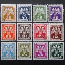 L'Allemagne nazie officiel 1943 timbres neuf sans charnière Troisième Reich b&m Svastika Aigle BOHEMIA & M