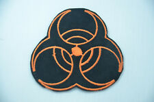 BIOHAZARD SIGN SYMBOL LOGO EMBROIDERED APPLIQUE BADGE MORALE PATCH SEW  IRON ON