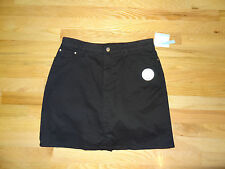 New Croft & Barrow Womens Stretch Skort Skirt w/Shorts Black 16 $36