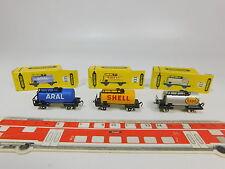 AQ936-0,5# 3x Schiebetrix/Minitrix N Kesselwagen: 835 Aral+833 Shell+837 Esso