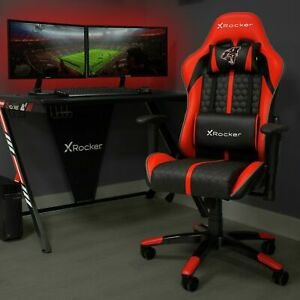 Good Conddion  Arteon X Rocker Faux Leather Junior Gaming Chair - Red.