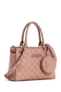 GUESS Janelle Convertible Satchel Crossbody Bag with Makeup Pouch